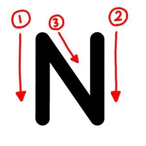 アルファベット 書き方