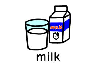 牛乳 ミルク milk イラスト 英語