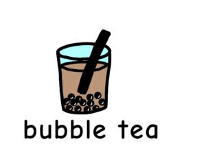 タピオカミルクティー bubble tea 英語 イラスト
