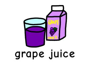 ぶどうジュース grape juice 英語 イラスト