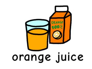オレンジジュース orange juice 英語 イラスト