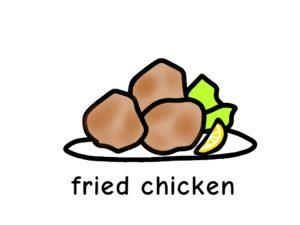 唐揚げ fried chicken 英語