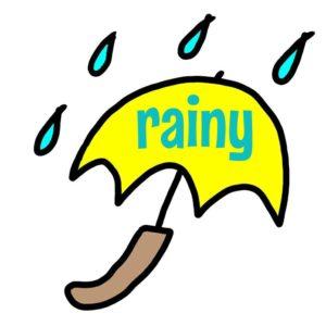 雨 rainy イラスト