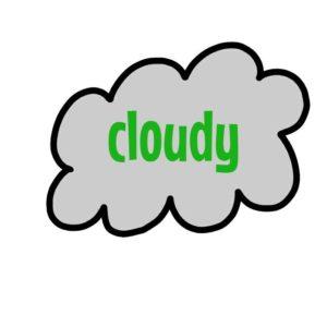 くもり cloudy イラスト