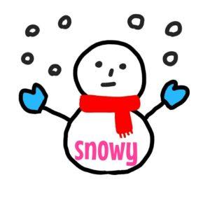 雪     snowy  イラスト