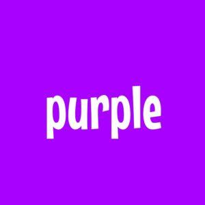 紫 purple 英語