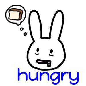 hungry 英語 イラスト