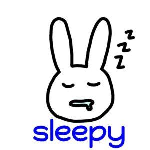 sleepy 英語 イラスト