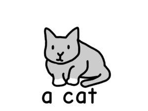 猫 cat 英語 イラスト