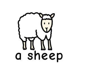 羊 sheep 英語 イラスト