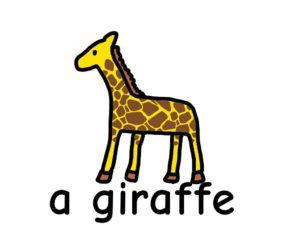 きりん giraffe 英語 イラスト