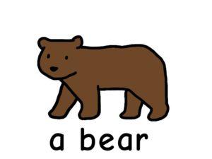 くま bear 英語 イラスト