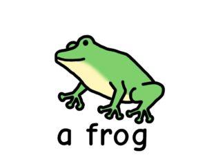かえる frog 英語 イラスト