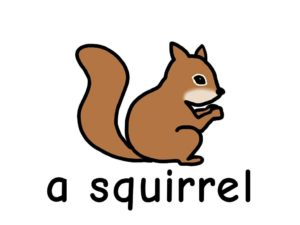りす squirrel 英語 イラスト