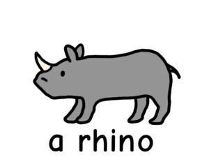 サイ rhyno 英語 イラスト