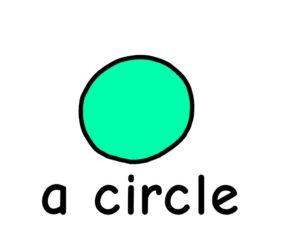 丸 circle 英語 イラスト