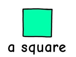 四角 square 英語 イラスト