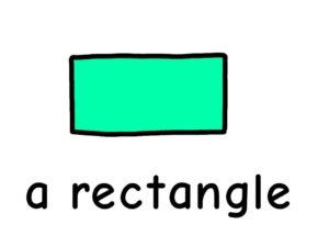 長方形 rectangle 英語 イラスト