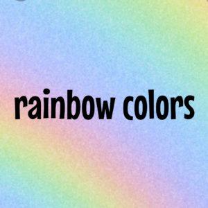 虹色 rainbow colors 英語