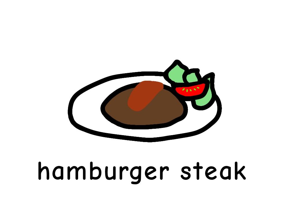 ハンバーグ hamburger steak 英語