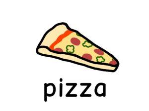 ピザ pizza 英語
