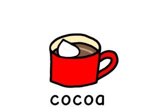 ココア  cocoa 英語 イラスト