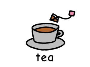 紅茶 tea エI語 イラスト