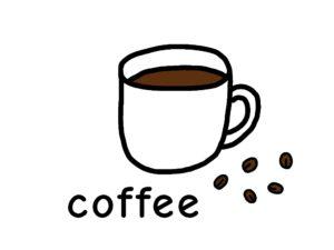珈琲 coffee 英語 イラスト